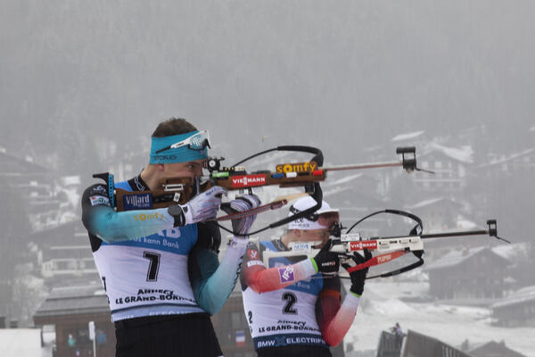 22.12.2019, Annecy-Le Grand Bornand, France (FRA):Emilien Jacquelin (FRA) -  IBU world cup biathlon, mass men, Annecy-Le Grand Bornand (FRA). www.nordicfocus.com. © Manzoni/NordicFocus. Every downloaded picture is fee-liable.