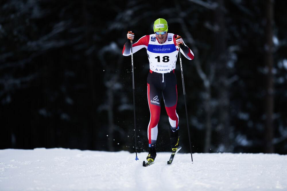 20.01.2019, Otepaeae, Estonia (EST):Max Hauke (AUT) - FIS world cup cross-country, 15km men, Otepaeae (EST). www.nordicfocus.com. © Thibaut/NordicFocus. Every downloaded picture is fee-liable.