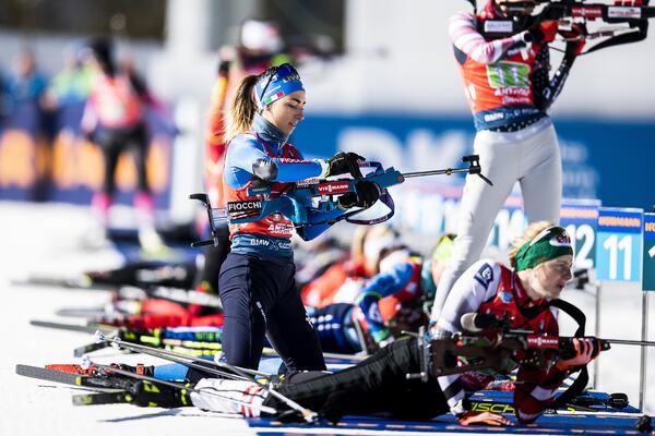 22.02.2020, Antholz, Italy (ITA):Lisa Vittozzi (ITA) - IBU World Championships Biathlon, relay women, Antholz (ITA). www.nordicfocus.com. © Modica/NordicFocus. Every downloaded picture is fee-liable.