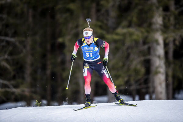 19.02.2020, Antholz, Italy (ITA):Johannes Dale (NOR) - IBU World Championships Biathlon, individual men, Antholz (ITA). www.nordicfocus.com. © Modica/NordicFocus. Every downloaded picture is fee-liable.