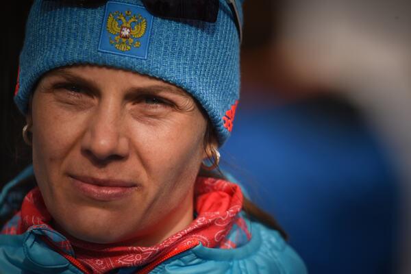 12.02.2017, Hochfilzen, Austria (AUT):Irina Starykh (RUS) - IBU world championships biathlon, pursuit women, Hochfilzen (AUT). www.nordicfocus.com. © NordicFocus. Every downloaded picture is fee-liable.