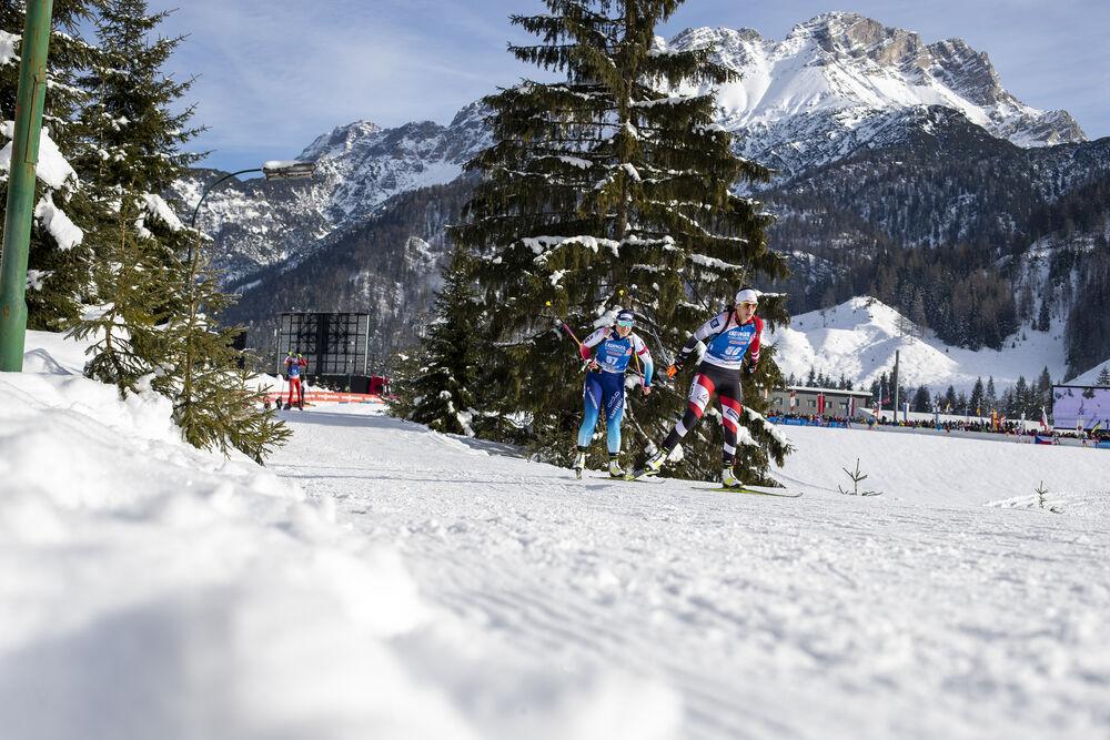 15.12.2019, Hochfilzen, Austria (AUT):Irene Cadurisch (SUI), Julia Schwaiger (AUT) - IBU world cup biathlon, pursuit women, Hochfilzen (AUT). www.nordicfocus.com. © Nico Manzoni/NordicFocus. Every downloaded picture is fee-liable.