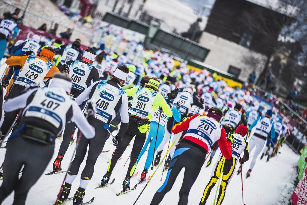 26.01.2020, Molina di Fiemme, Italy (ITA): Participants of Marcialonga   - Visma Ski Classics and FIS Marathon Cup Marcialonga, Molina di Fiemme (ITA). www.nordicfocus.com. © Modica/NordicFocus. Every downloaded picture is fee-liable.