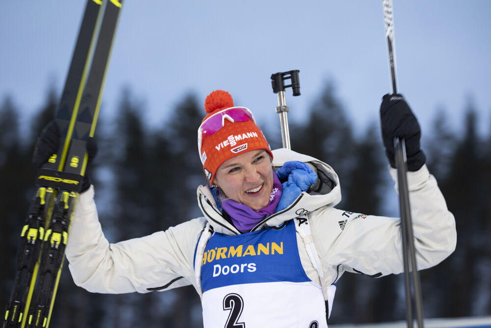 13.03.2020, Kontiolahti, Finland (FIN):Denise Herrmann (GER) -  IBU world cup biathlon, sprint women, Kontiolahti (FIN). www.nordicfocus.com. © Manzoni/NordicFocus. Every downloaded picture is fee-liable.