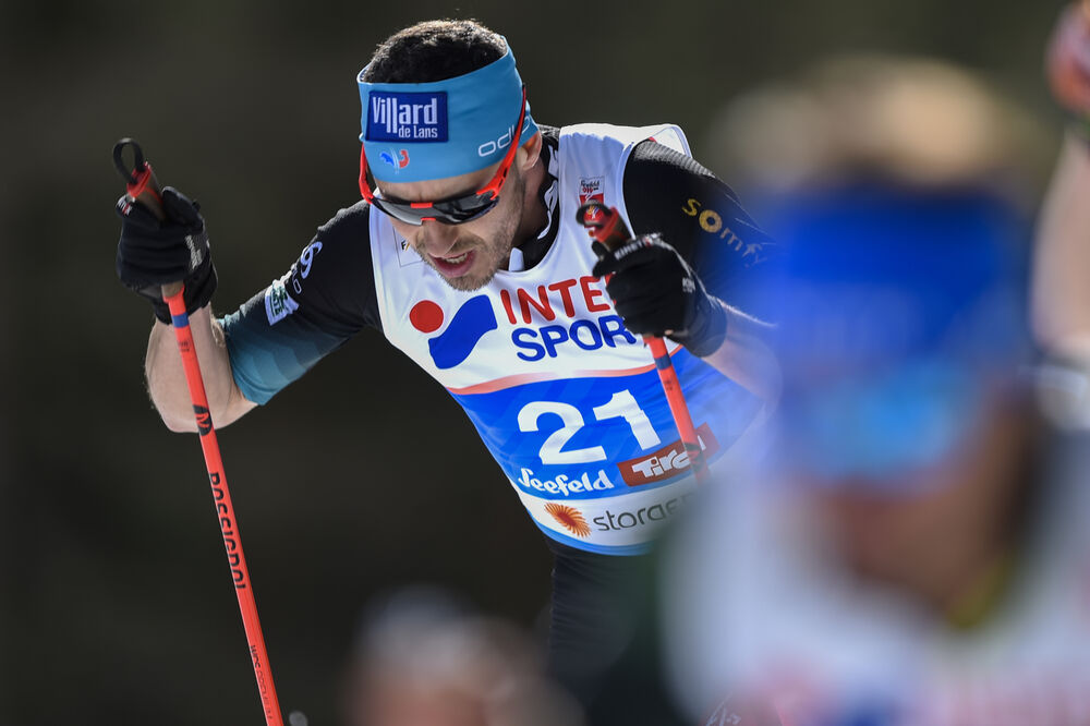 03.03.2019, Seefeld, Austria (AUT):Robin Duvillard (FRA) - FIS nordic world ski championships, cross-country, mass men, Seefeld (AUT). www.nordicfocus.com. © THIBAUT/NordicFocus. Every downloaded picture is fee-liable.