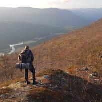 Utsikt fra Geagujohka mot Reisadalen