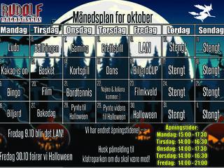 Månedsplan for Rudolf oktober