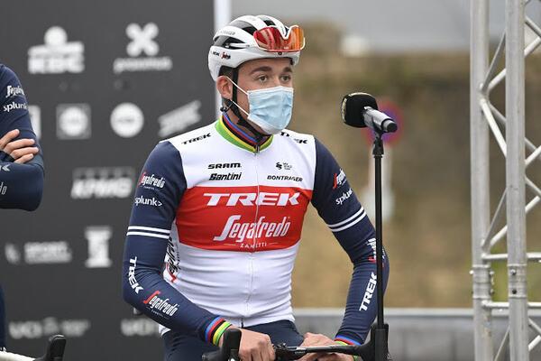 WEVELGEM, BELGIUM - OCTOBER 11 : PEDERSEN Mads (DEN) of TREK - SEGAFREDO during the Flanders Classics 82nd Gent - Wevelgem - In Flanders Fields cycling race with start in Ieper and finish in Wevelgem on October 11, 2020 in Wevelgem, Belgium, 11/10/2020 (