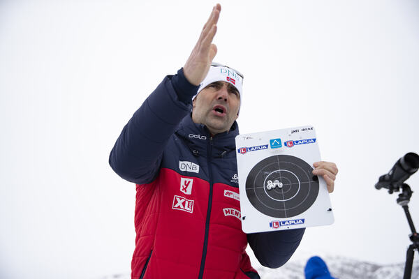 13.02.2019, Soldier Hollow, United States of America (USA):Siegfried Mazet (FRA) coach team Norway -  IBU world cup biathlon, training, Soldier Hollow (USA). www.nordicfocus.com. © Manzoni/NordicFocus. Every downloaded picture is fee-liable.