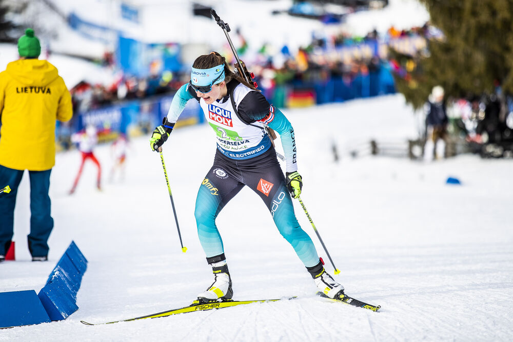 13.02.2020, Antholz, Italy (ITA):Justine Braisaz (FRA) - IBU World Championships Biathlon, relay mixed, Antholz (ITA). www.nordicfocus.com. © Modica/NordicFocus. Every downloaded picture is fee-liable.