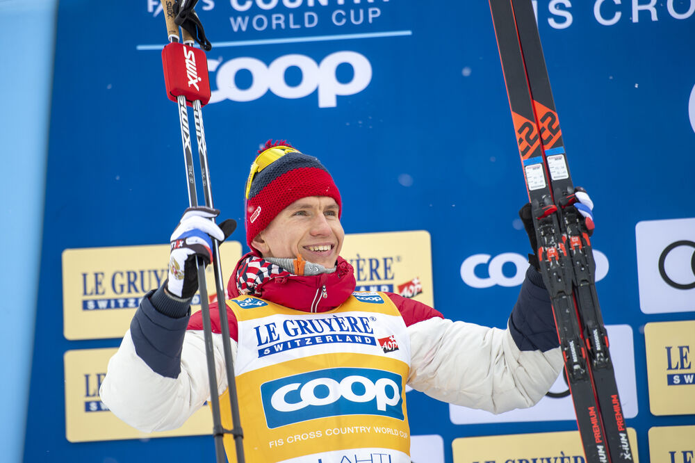 29.02.2020, Lahti Finland (FIN):Alexander Bolshunov (RUS) - FIS world cup cross-country, 15km men, Lahti (FIN). www.nordicfocus.com. © THIBAUT/NordicFocus. Every downloaded picture is fee-liable.