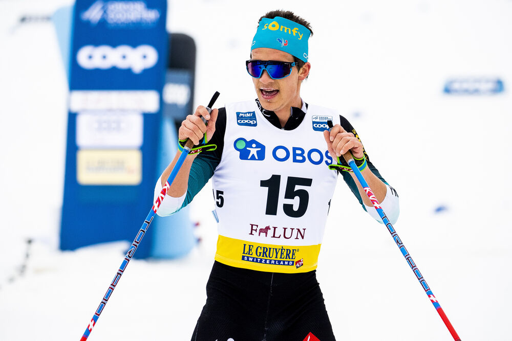 09.02.2020, Falun, Sweden (SWE):Clement Parisse (FRA) - FIS world cup cross-country, 15km men, Falun (SWE). www.nordicfocus.com. © Modica/NordicFocus. Every downloaded picture is fee-liable.
