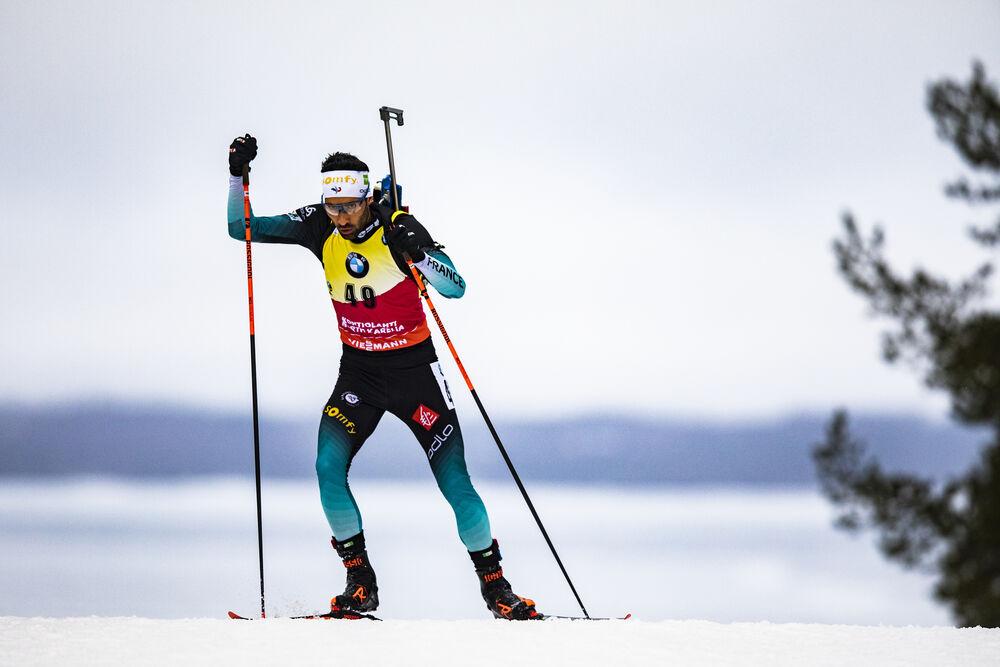12.03.2020, Kontiolahti, Finland (FIN):Martin Fourcade (FRA) -  IBU World Cup Biathlon, sprint men, Kontiolahti (FIN). www.nordicfocus.com. © Manzoni/NordicFocus. Every downloaded picture is fee-liable.