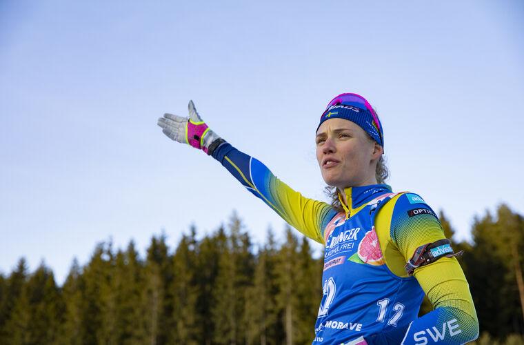 05.03.2020, Nove Mesto, Czech Republic (CZE):Hanna Oeberg (SWE) - IBU world cup biathlon, sprint women, Nove Mesto (CZE). www.nordicfocus.com. © Manzoni/NordicFocus. Every downloaded picture is fee-liable.