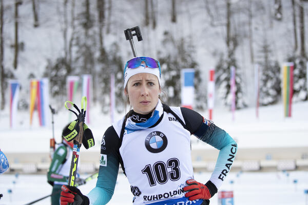 17.01.2019, Ruhpolding, Germany (GER):Caroline Colombo (FRA) -  IBU world cup biathlon, sprint women, Ruhpolding (GER). www.nordicfocus.com. © Manzoni/NordicFocus. Every downloaded picture is fee-liable.
