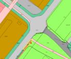 Utsnitt av arealplankart som viser planlagt kollektivholdeplass og antatt ny plassering av busskuret