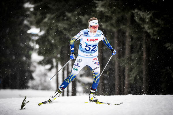 18.01.2020, Nove Mesto, Czech Republic (CZE):Ebba Andersson (SWE) - FIS world cup cross-country, 15km men, Nove Mesto (CZE). www.nordicfocus.com. © Modica/NordicFocus. Every downloaded picture is fee-liable.