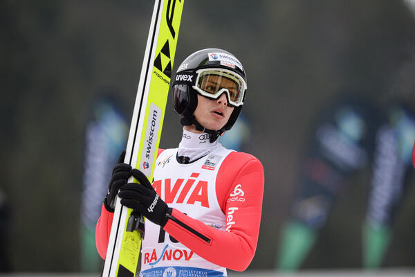 21.02.2020, Rasnov, Romania (ROU):Gregor Deschwanden (SUI) - FIS world cup ski jumping, individual HS97, Rasnov (ROU). www.nordicfocus.com. © Tumashov/NordicFocus. Every downloaded picture is fee-liable.