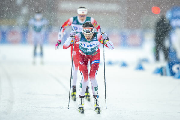 16.02.2020, Oestersund, Sweden (SWE):Heidi Weng (NOR) - FIS world cup cross-country, pursuit women, Oestersund (SWE). www.nordicfocus.com. ©THIBAUT/NordicFocus. Every downloaded picture is fee-liable.