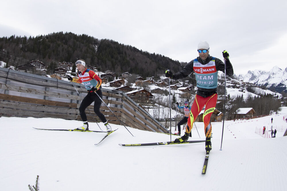 18.12.2019, Annecy-Le Grand Bornand, France (FRA):Darya Domracheva (BLR), Ole Einar Bjoerndalen (NOR), (l-r) -  IBU world cup biathlon, training, Annecy-Le Grand Bornand (FRA). www.nordicfocus.com. © Manzoni/NordicFocus. Every downloaded picture is fee-