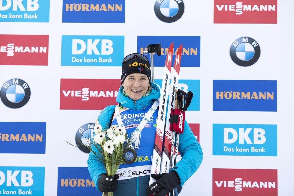 24.01.2020, Pokljuka, Slovenia (SLO):Anais Bescond (FRA) -  IBU world cup biathlon, individual women, Pokljuka (SLO). www.nordicfocus.com. © Manzoni/NordicFocus. Every downloaded picture is fee-liable.