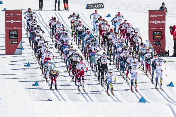 18.03.2017, Quebec, Canada (CAN):Stina Nilsson (SWE), Maiken Caspersen Falla (NOR), Hanna Falk (SWE), Heidi Weng (NOR), Ida Ingemarsdotter (SWE), Nadine Faehndrich (SUI), +t+, Marit Bjoergen (NOR), Ingvild Flugstad Oestberg (NOR), Jessica Diggins (USA),