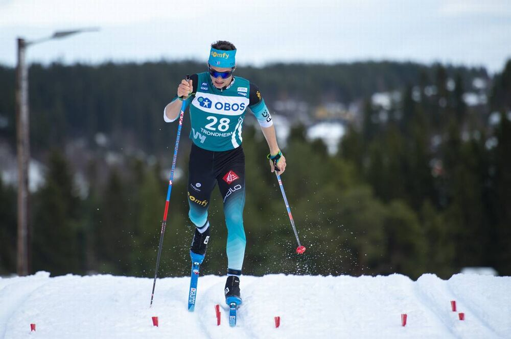 22.02.2020, Trondheim, Norway (NOR):Clement Parisse (FRA) - FIS world cup cross-country, individual sprint, Trondheim (NOR). www.nordicfocus.com. © Thibaut/NordicFocus. Every downloaded picture is fee-liable.
