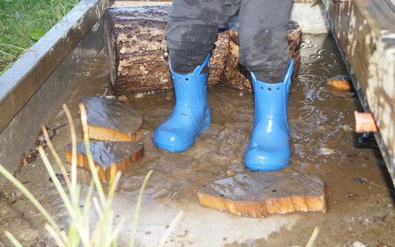 støvler i vann