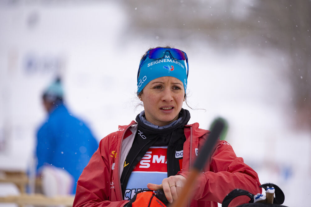13.02.2019, Soldier Hollow, United States of America (USA):Anais Chevalier (FRA) -  IBU world cup biathlon, training, Soldier Hollow (USA). www.nordicfocus.com. © Manzoni/NordicFocus. Every downloaded picture is fee-liable.