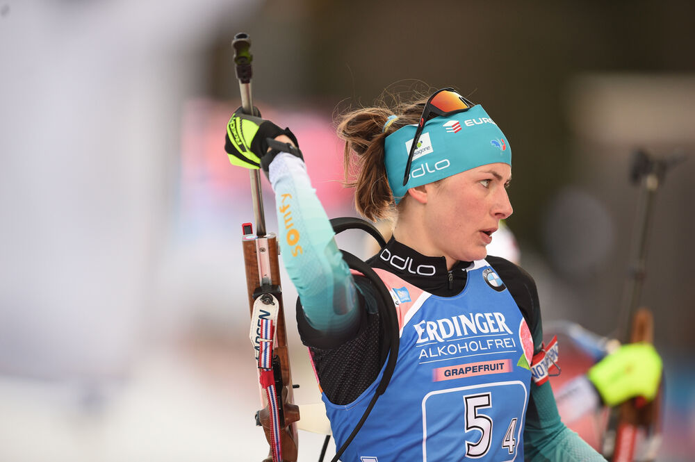17.01.2020, Ruhpolding, Germany (GER):Justine Braisaz (FRA) -  IBU world cup biathlon, relay women, Ruhpolding (GER). www.nordicfocus.com. © Tumashov/NordicFocus. Every downloaded picture is fee-liable.