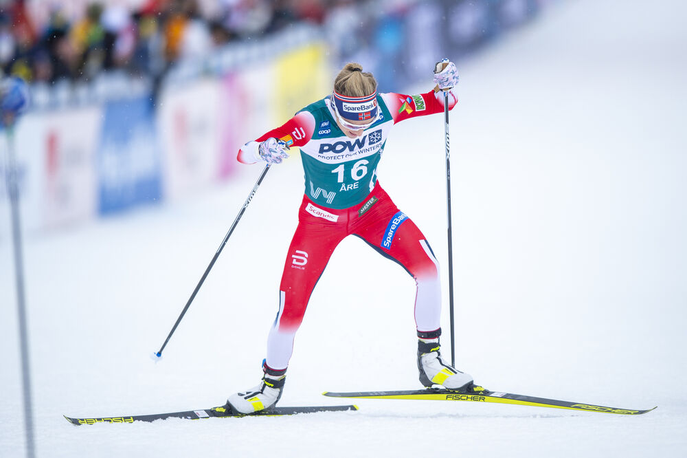 18.02.2020, Are, Sweden (SWE):Therese Johaug (NOR) - FIS world cup cross-country, individual sprint, Are (SWE). www.nordicfocus.com. © Thibaut/NordicFocus. Every downloaded picture is fee-liable.