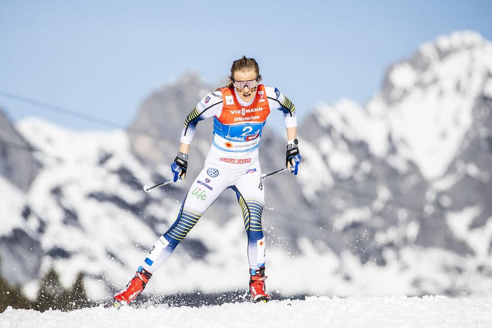 28.02.2019, Seefeld, Austria (AUT):Stina Nilsson (SWE) - FIS nordic world ski championships, cross-country, 4x5km women, Seefeld (AUT). www.nordicfocus.com. © Modica/NordicFocus. Every downloaded picture is fee-liable.