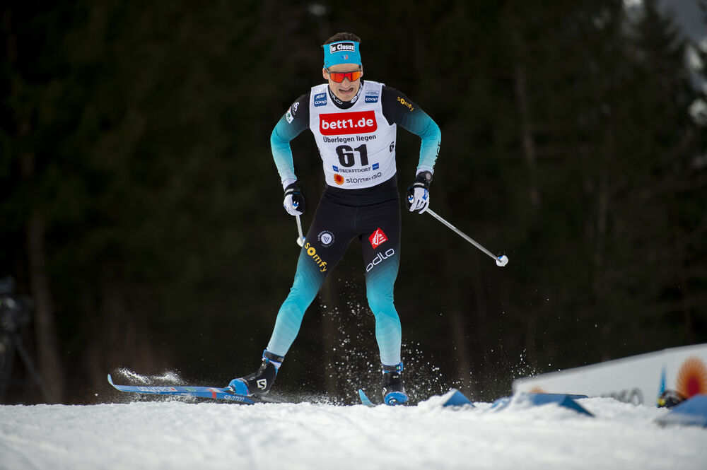 26.01.2020, Oberstdorf, Germany (GER):Jules Chappaz (FRA) - FIS world cup cross-country, individual sprint, Oberstdorf (GER). www.nordicfocus.com. © Thibaut/NordicFocus. Every downloaded picture is fee-liable.