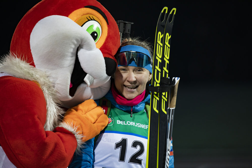 26.02.2020, Minsk-Raubichi, Belarus (BLR):Evgeniya Pavlova (RUS) - IBU Open European Championships Biathlon, SuperSprint women, Minsk-Raubichi (BLR). www.nordicfocus.com. © Manzoni/NordicFocus. Every downloaded picture is fee-liable.
