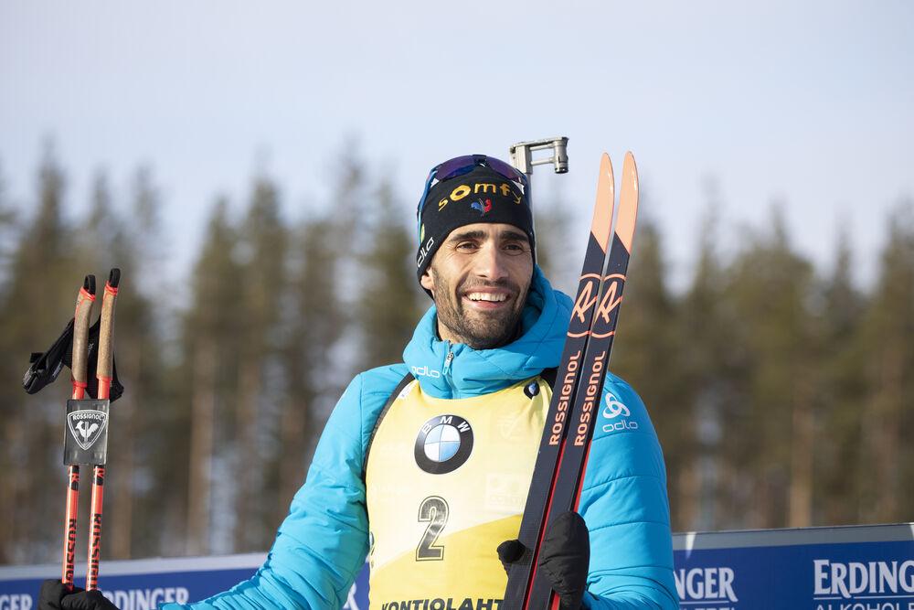 14.03.2020, Kontiolahti, Finland (FIN):Martin Fourcade (FRA) -  IBU world cup biathlon, pursuit men, Kontiolahti (FIN). www.nordicfocus.com. © Manzoni/NordicFocus. Every downloaded picture is fee-liable.