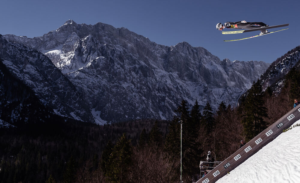 23.03.2019, Planica, Slovenia (SLO): Daniel Huber (AUT)- FIS world cup ski flying, team HS240, Planica (SLO). www.nordicfocus.com. © Nordicfocus/EXPA/JFK. Every downloaded picture is fee-liable.