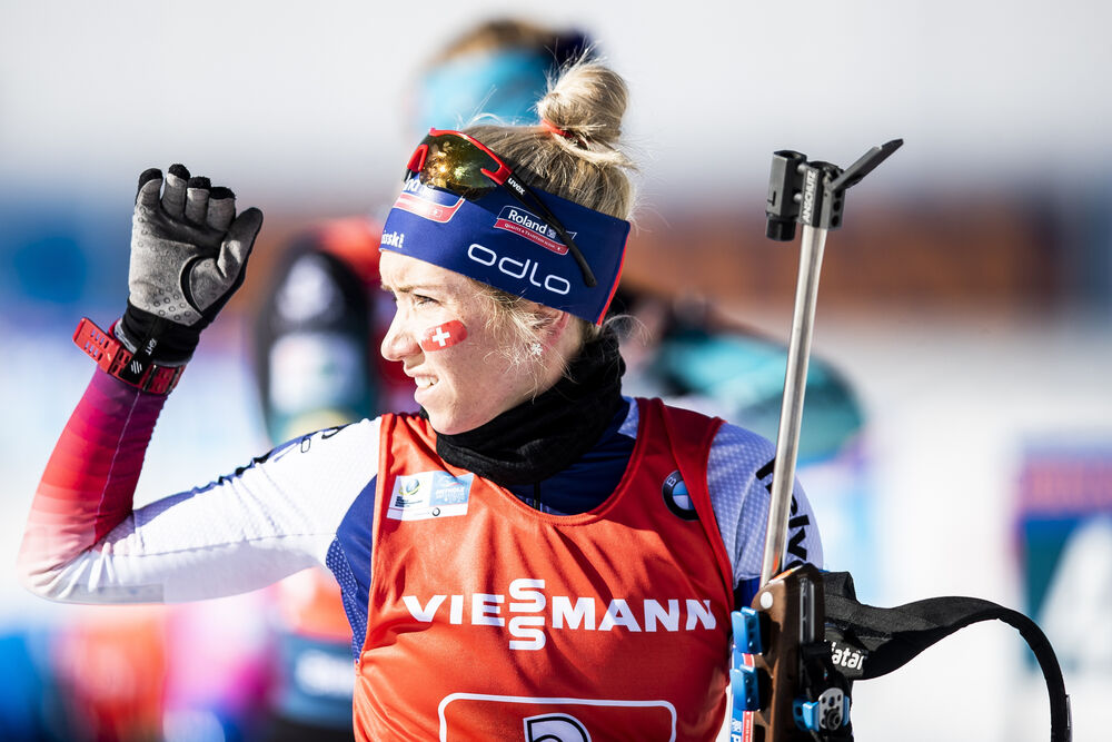 22.02.2020, Antholz, Italy (ITA):Elisa Gasparin (SUI) - IBU World Championships Biathlon, relay women, Antholz (ITA). www.nordicfocus.com. © Modica/NordicFocus. Every downloaded picture is fee-liable.