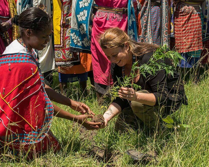 Treplanting i Kenya