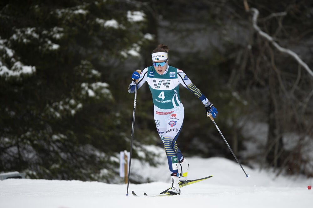 23.02.2020, Trondheim, Norway (NOR):Ebba Andersson (SWE) - FIS world cup cross-country, pursuit women, Trondheim (NOR). www.nordicfocus.com. © Thibaut/NordicFocus. Every downloaded picture is fee-liable.