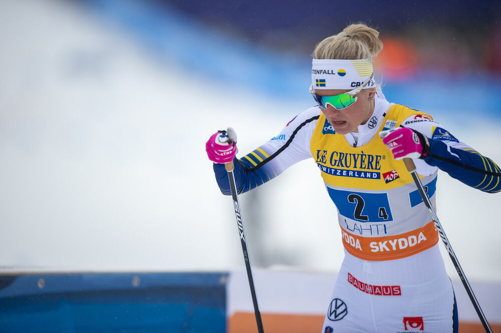 01.03.2020, Lahti Finland (FIN):Maja Dahlqvist (SWE) - FIS world cup cross-country, 4x5km women, Lahti (FIN). www.nordicfocus.com. © THIBAUT/NordicFocus. Every downloaded picture is fee-liable.