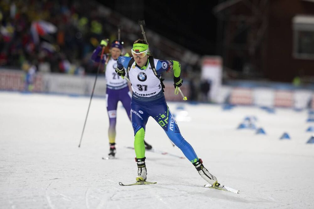 01.12.2019, Oestersund, Sweden, (SWE):Dzinara Alimbekava (BLR) - IBU world cup biathlon, sprint women, Oestersund (SWE). www.nordicfocus.com. © Manzoni/NordicFocus. Every downloaded picture is fee-liable.