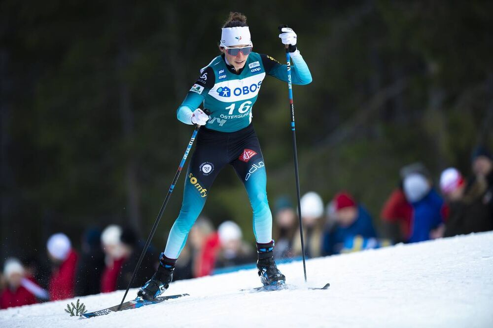 15.02.2020, Oestersund, Sweden (SWE):Delphine Claudel (FRA) - FIS world cup cross-country, 10km women, Oestersund (SWE). www.nordicfocus.com. © Vianney THIBAUT/NordicFocus. Every downloaded picture is fee-liable.
