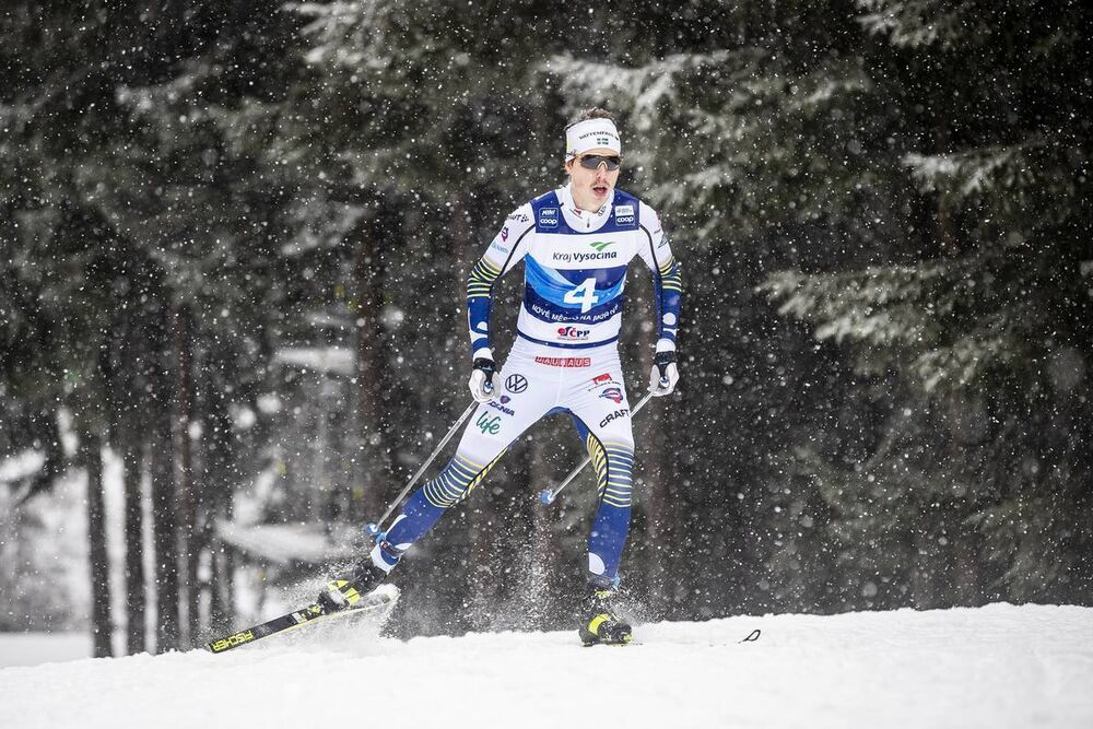 18.01.2020, Nove Mesto, Czech Republic (CZE):William Poromaa (SWE) - FIS world cup cross-country, 15km men, Nove Mesto (CZE). www.nordicfocus.com. © Modica/NordicFocus. Every downloaded picture is fee-liable.