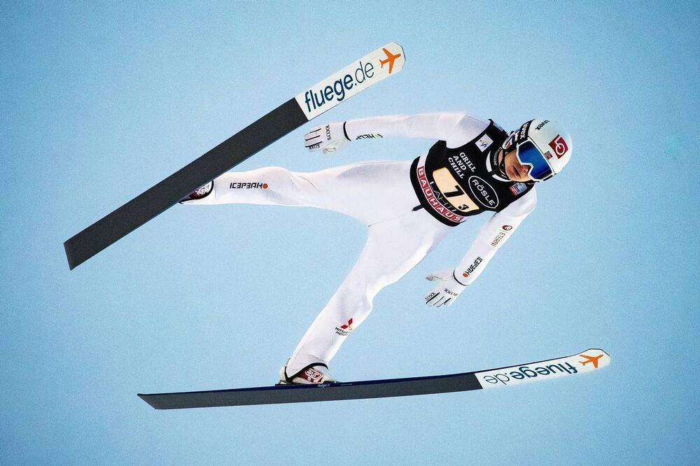 29.02.2020, Lahti, Finland (FIN):Marius Lindvik (NOR) - FIS world cup ski jumping, team HS130, Lahti (FIN). www.nordicfocus.com. © Modica/NordicFocus. Every downloaded picture is fee-liable.