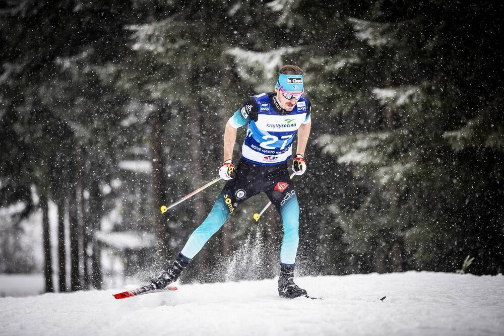 18.01.2020, Nove Mesto, Czech Republic (CZE):Hugo Lapalus (FRA) - FIS world cup cross-country, 15km men, Nove Mesto (CZE). www.nordicfocus.com. © Modica/NordicFocus. Every downloaded picture is fee-liable.