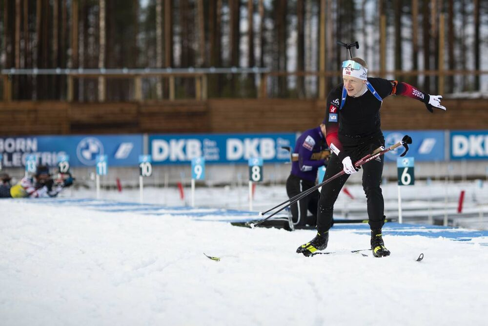 27.11.2020, Kontiolahti, Finland (FIN):Johannes Thingnes Boe (NOR) -  IBU world cup biathlon, training, Kontiolahti (FIN). www.nordicfocus.com. © Manzoni/NordicFocus. Every downloaded picture is fee-liable.