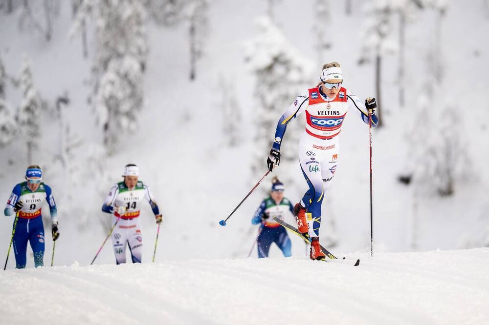 27.11.2020, Ruka, Finland (FIN):Linn Svahn (SWE) - FIS world cup cross-country, individual sprint, Ruka (FIN). www.nordicfocus.com. © Modica/NordicFocus. Every downloaded picture is fee-liable.