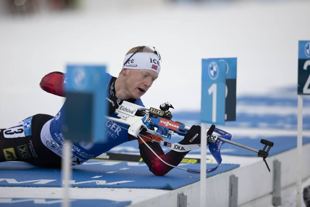 29.11.2020, Kontiolahti, Finland (FIN):Johannes Thingnes Boe (NOR) -  IBU World Cup Biathlon, sprint men, Kontiolahti (FIN). www.nordicfocus.com. © Manzoni/NordicFocus. Every downloaded picture is fee-liable.