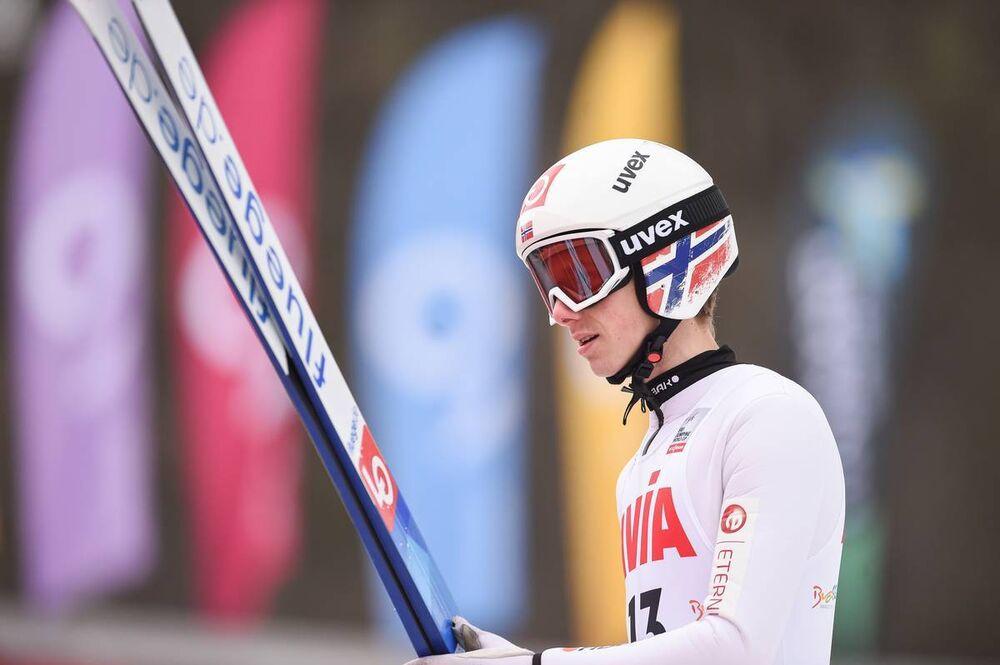 22.02.2020, Rasnov, Romania (ROU):Halvor Egner Granerud (NOR) - FIS world cup ski jumping, individual HS97, Rasnov (ROU). www.nordicfocus.com. © Tumashov/NordicFocus. Every downloaded picture is fee-liable.