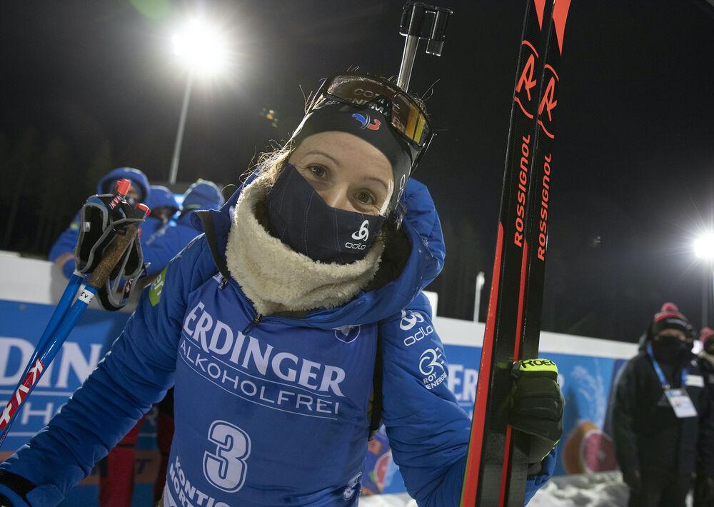 03.12.2020, Kontiolahti, Finland (FIN):Anais Chevalier-Bouchet (FRA) -  IBU World Cup Biathlon, sprint women, Kontiolahti (FIN). www.nordicfocus.com. © Manzoni/NordicFocus. Every downloaded picture is fee-liable.